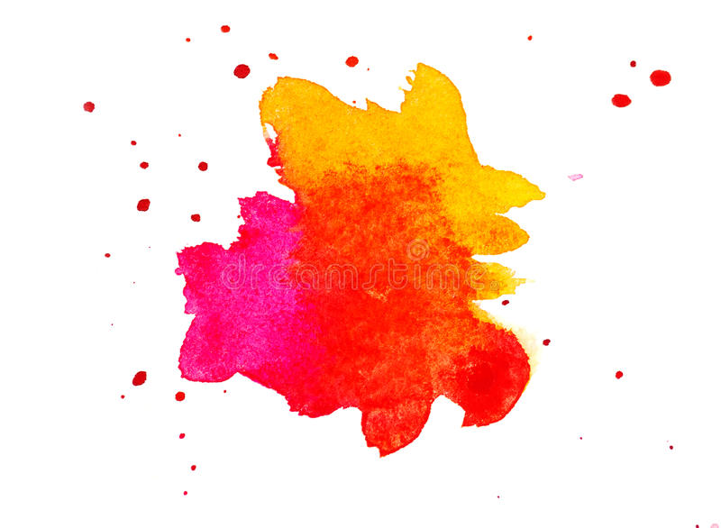 Abstract watercolor background as blots on white.  vector illustration