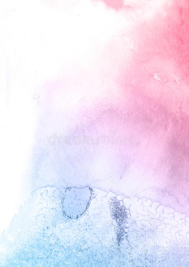 Pink and blue flower watercolor texture background, beautiful creative planet. stock photos
