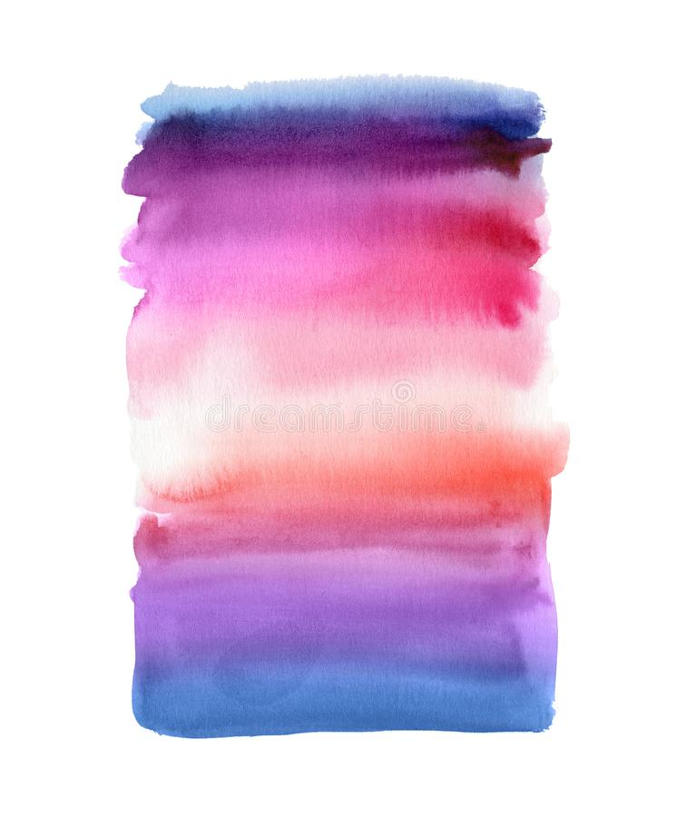 Abstract watercolor background, blend, brush strokes, creative illustration, sunset sky color palette. Abstract watercolor background, blend, brush strokes royalty free stock image