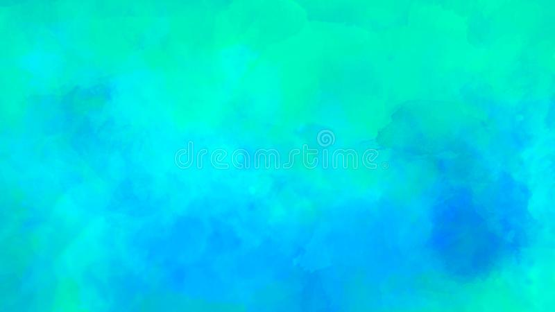 Abstract watercolor background in blue and green color. Brush stroke illustration royalty free illustration