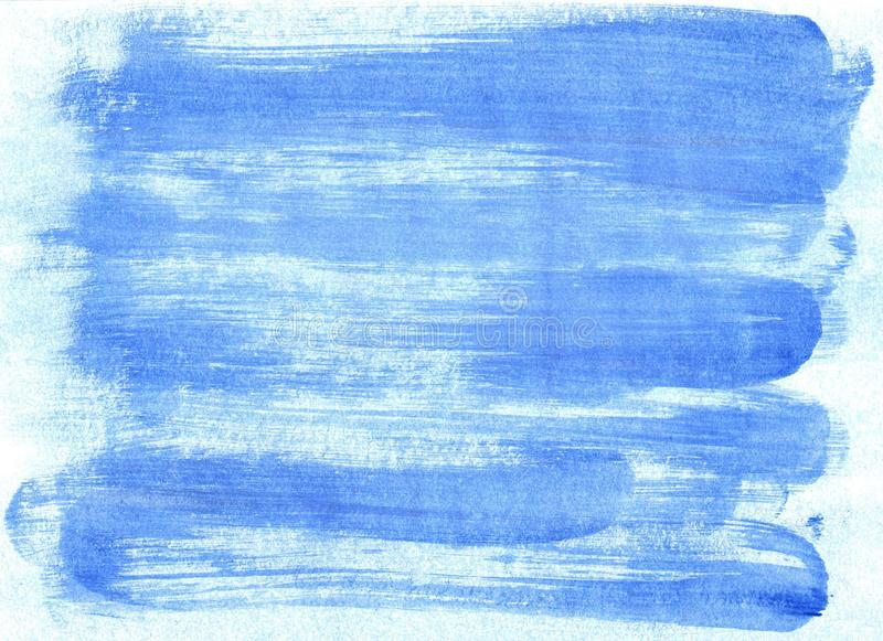 Abstract watercolor background with blue strokes stock photography