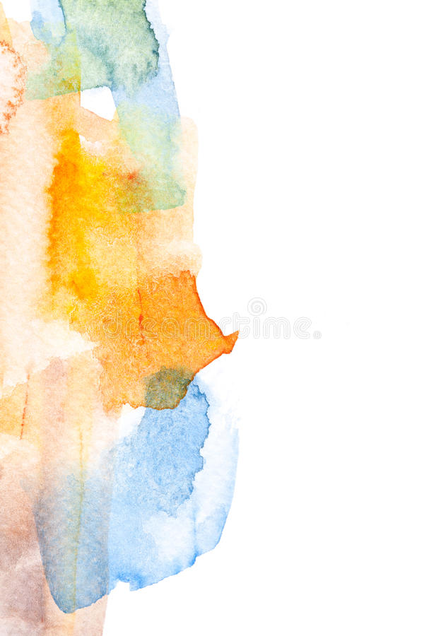 Abstract watercolor background. Abstract watercolor brush stroke illustration. Watercolor painting on paper. Abstract background royalty free stock image
