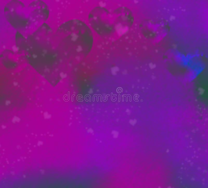 Abstract watercolor  background with colored stylized a heart vector illustration