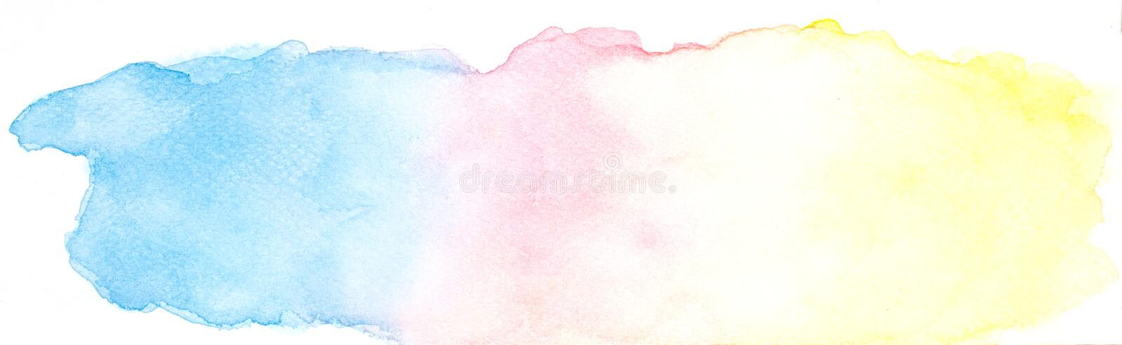 Abstract watercolor background, Colorful watercolor hand paint design banners stock illustration