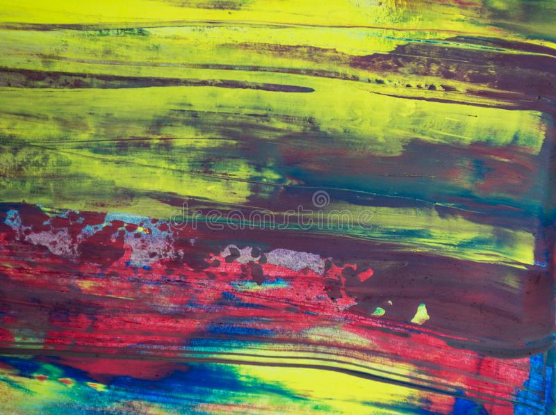 Abstract watercolor background, hand painted brush stroke stock illustration