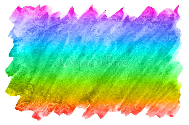 Abstract watercolor background of multi-colored ink stains of all spectral colors. Background image made with watercolors in a rai vector illustration