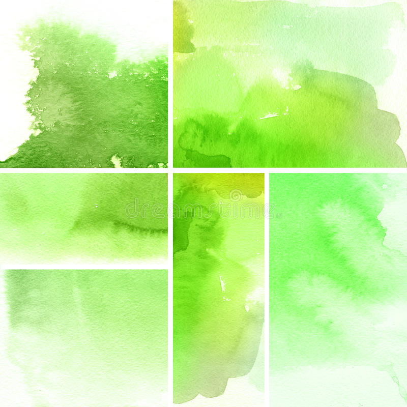 Abstract watercolor backgrounds vector illustration