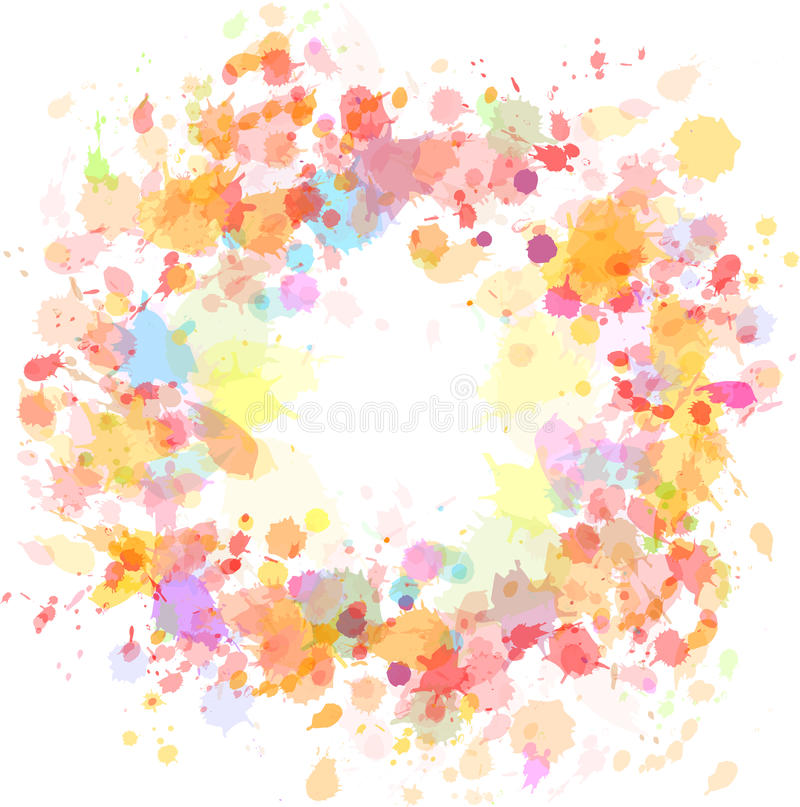 Download Abstract Watercolor Blobs Background Stock Vector - Illustration of droplet, eps10: 24872740