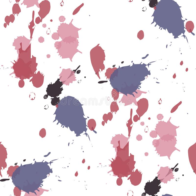 Abstract watercolor blobs. Colorful abstract ink paint splats royalty free illustration