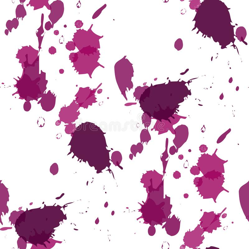 Abstract watercolor blobs. Colorful abstract vector ink paint splats. Abstract Colorful watercolor blobs. Colorful abstract vector ink paint splats royalty free illustration