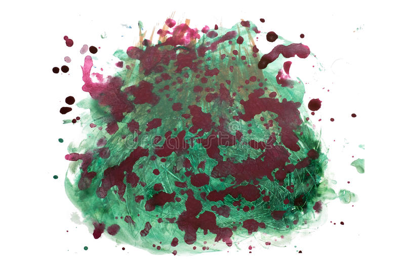 Abstract watercolor blot isolated on white background royalty free stock photo