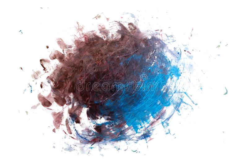 Abstract watercolor blot isolated on white background stock photos