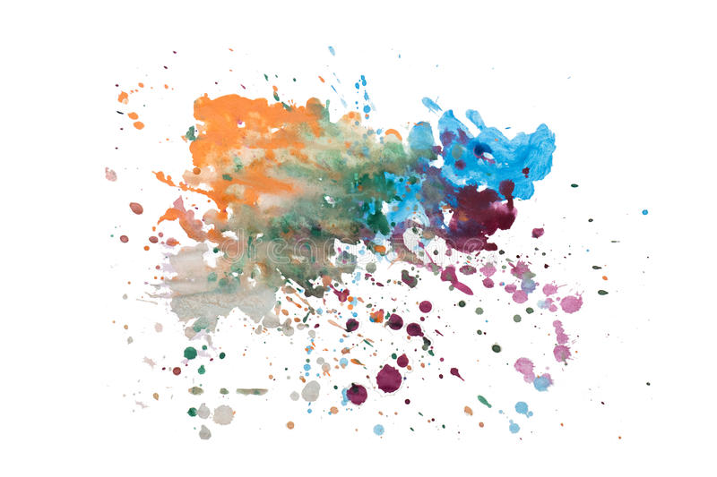 Abstract watercolor blot isolated on white background royalty free stock photography