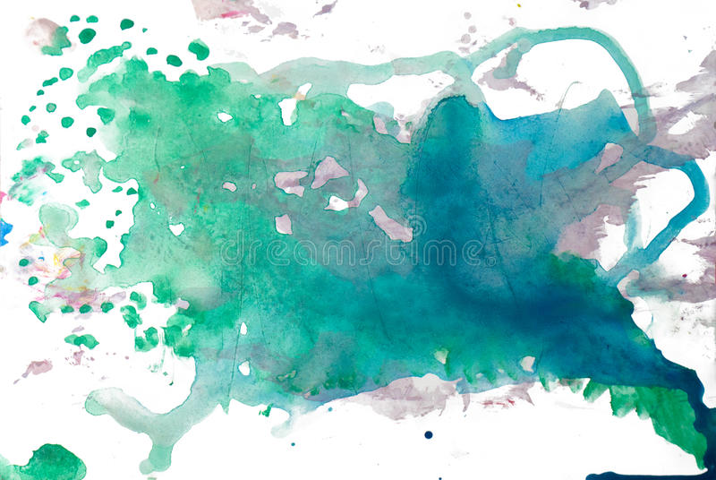 Abstract watercolor blot isolated on white background vector illustration