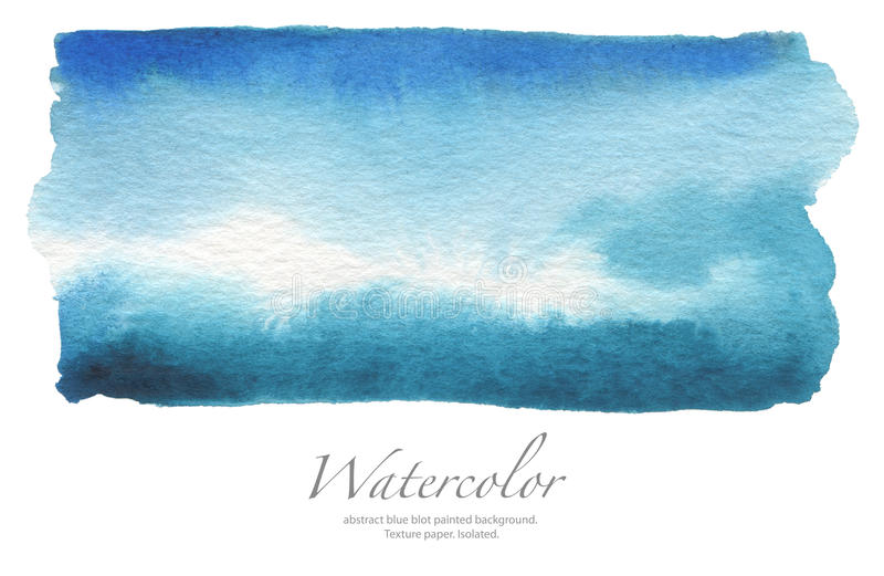 Abstract watercolor blot painted background. Texture paper. Isolated. Abstract watercolor blue blot painted background. Texture paper. Isolated royalty free stock photo