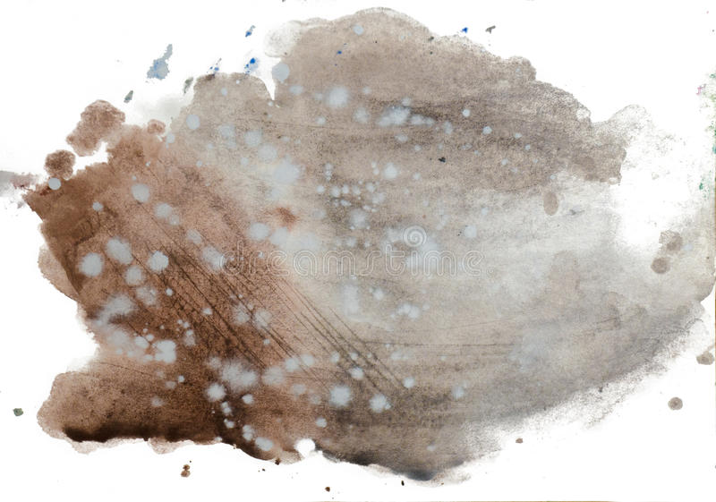 Abstract watercolor blot on white background royalty free stock photos