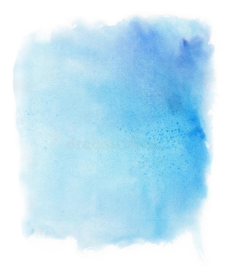 Abstract watercolor blue background. Template for the design of posters, invitations, cards. royalty free illustration