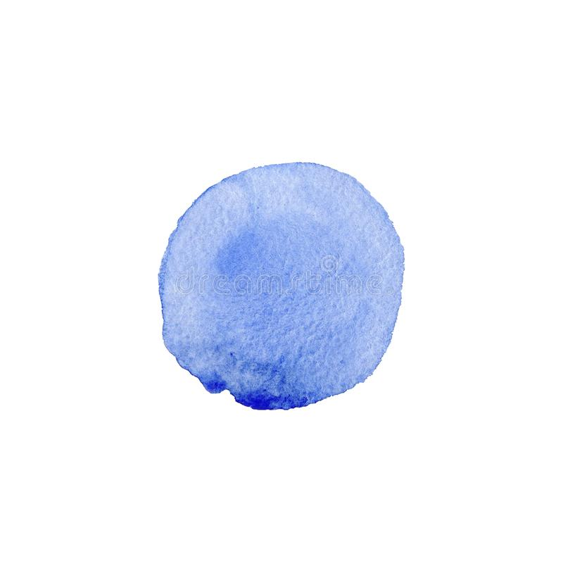 Abstract Watercolor blue hand painted circle. Beautiful element for design. Color background. Abstract Watercolor blue hand painted circle. Beautiful element for vector illustration