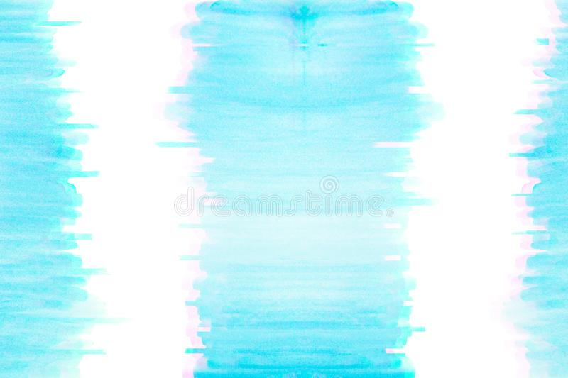 Abstract watercolor blue shades pattern texture art hand painted on white background with copy space with trendy glitch effect. Abstract watercolor blue shades vector illustration