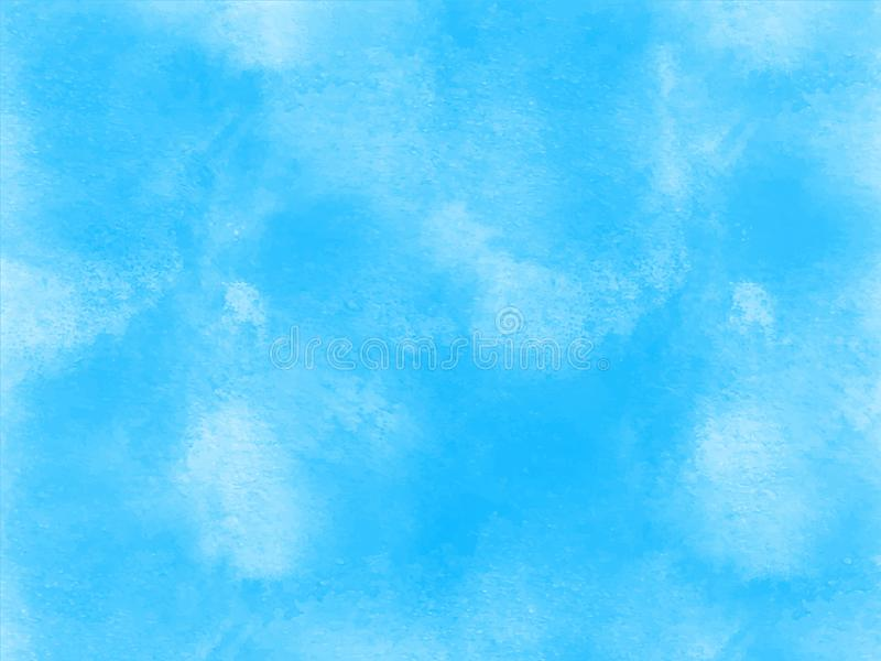 Abstract watercolor blue sky paint texture Vector EPS. royalty free stock photo