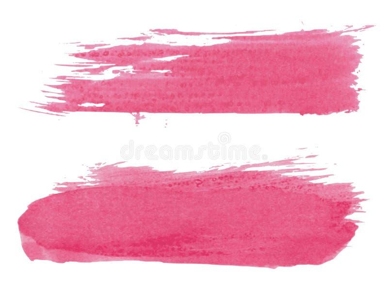 Abstract watercolor brush, set royalty free illustration