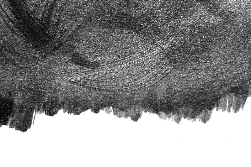 Abstract Watercolor brush strokes of paint on white paper background. Grunge Paint stripe . Black isolated paintbrush collection. Abstract Watercolor brush stock photos