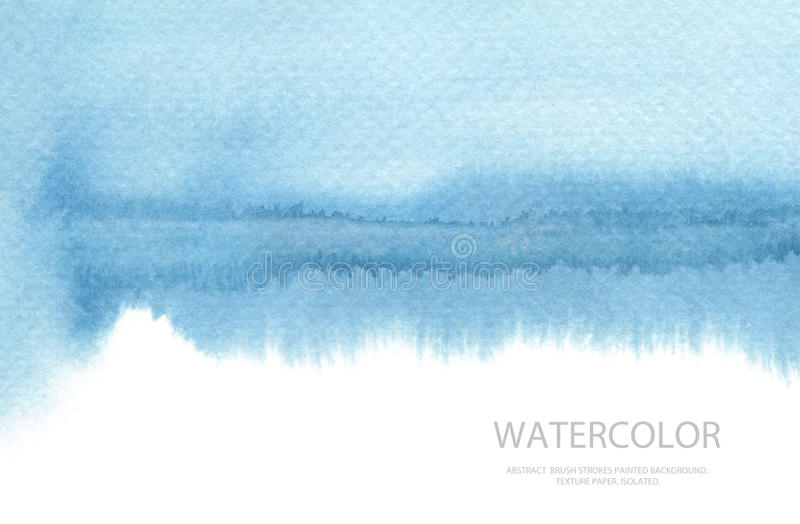 Abstract watercolor brush strokes painted background. Texture pa. Per. Isolated royalty free stock photo