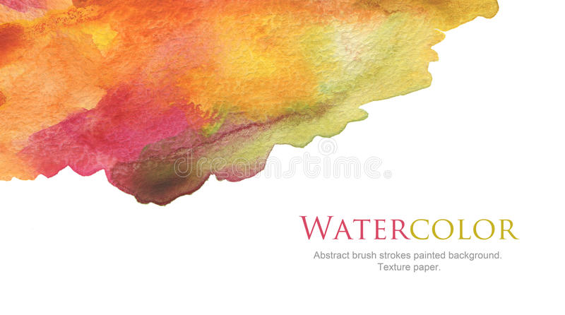 Abstract watercolor brush strokes painted background. Texture paper stock photos