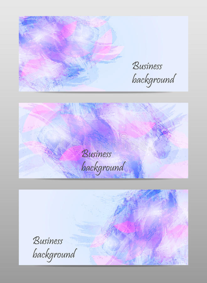 Abstract watercolor business banner stock image