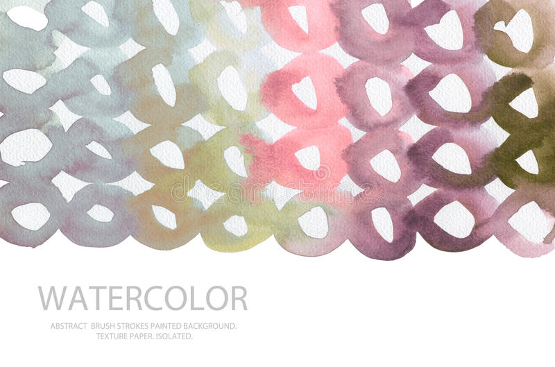 Abstract watercolor circle painted background. Texture paper. royalty free illustration