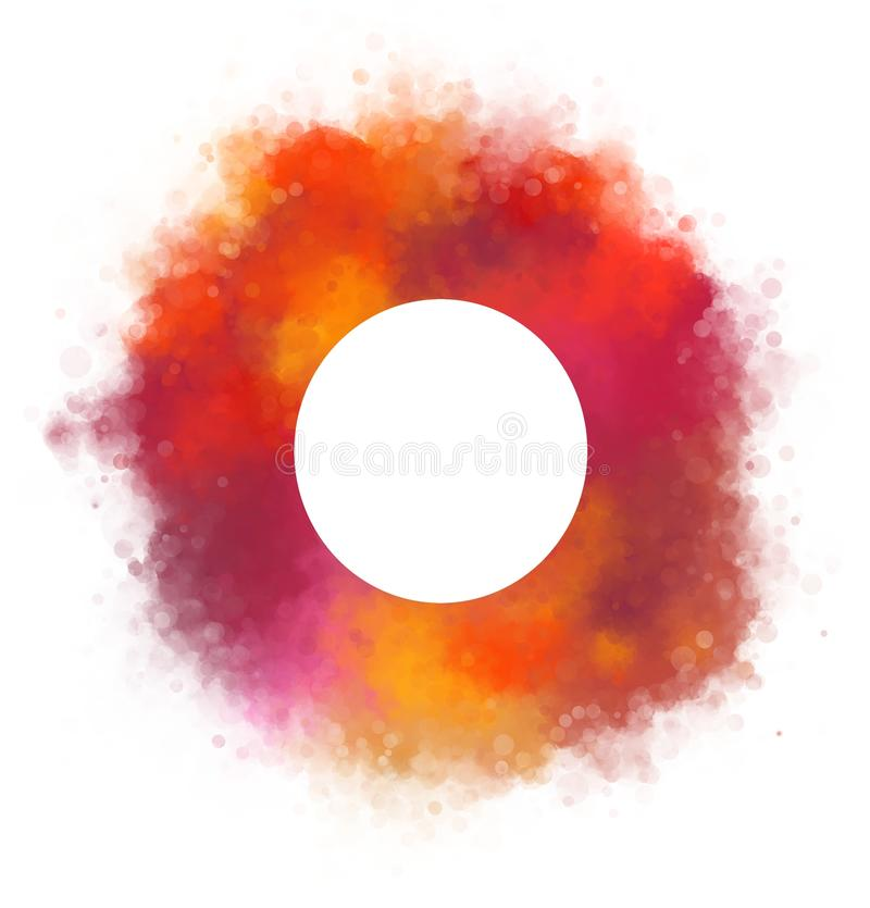 Watercolor circle on white background royalty free illustration