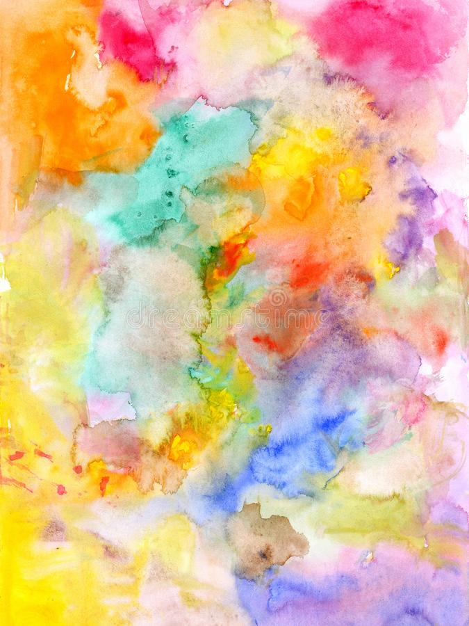 Abstract watercolor background - hand drawn. Abstract watercolor colorful background - hand drawn royalty free illustration