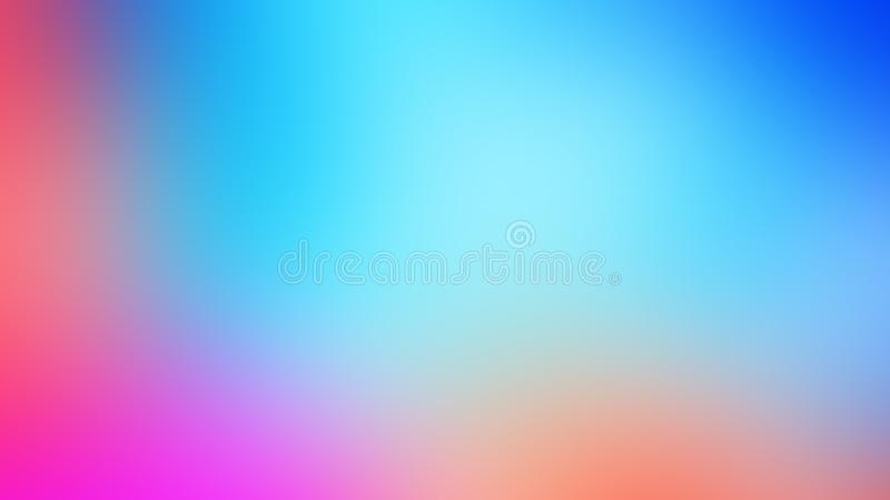 Abstract watercolor colorful blue purple violet violaceous red orange yellow blur gradient background web banner stock illustration