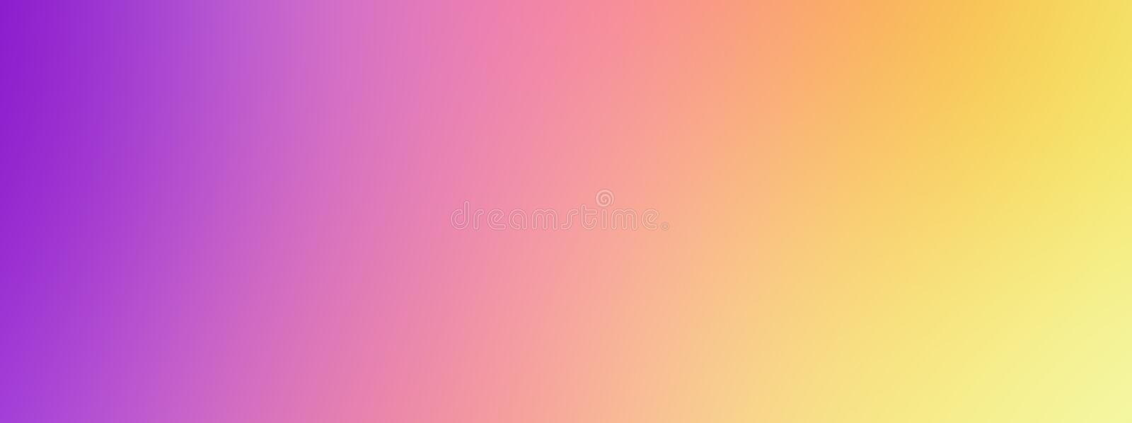 Abstract watercolor colorful blue purple violet violaceous red orange yellow blur gradient background web banner template royalty free illustration