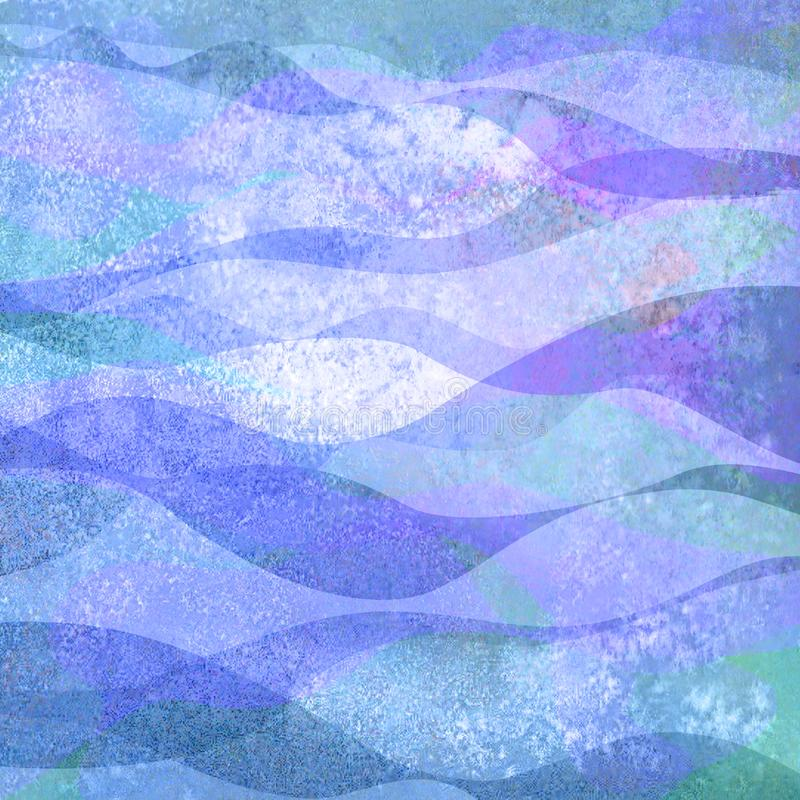 Abstract watercolor creative background with colorful bright purple teal turquoise blue colored grunge geometric shapes vector illustration
