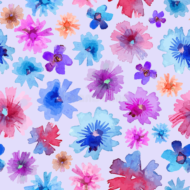 Abstract Watercolor Flower Pattern. Modern Flower Pattern ...