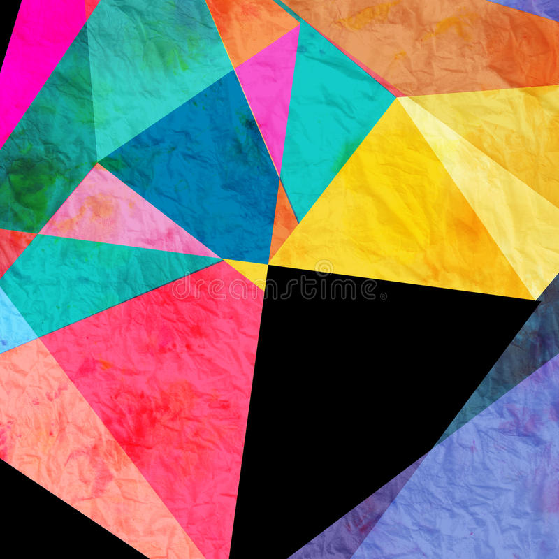 Abstract watercolor geometric background royalty free stock photos