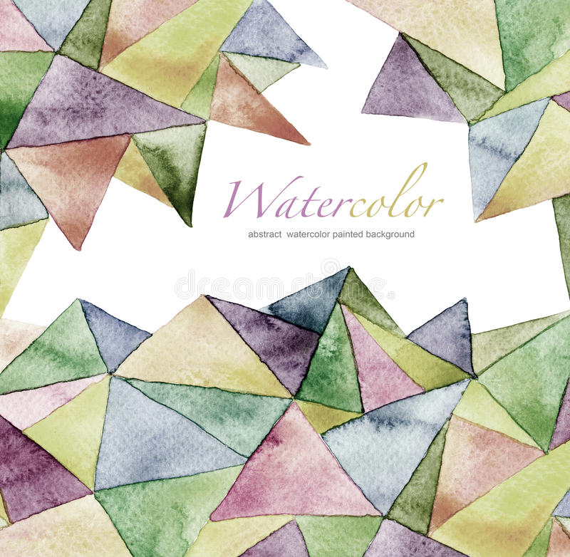 Abstract watercolor geometric pattern background stock photo
