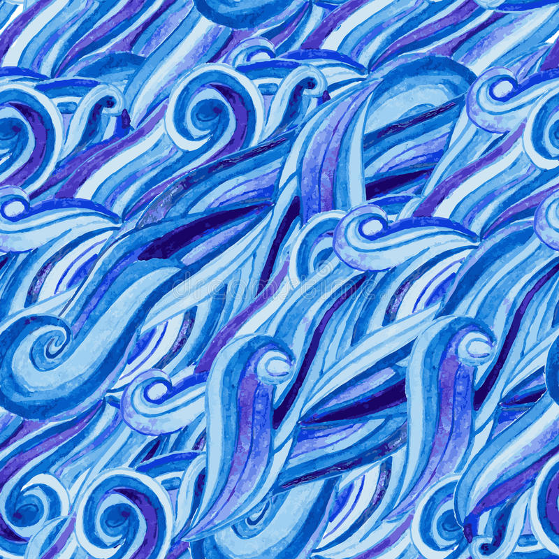 Abstract watercolor hand-drawn pattern royalty free stock photo