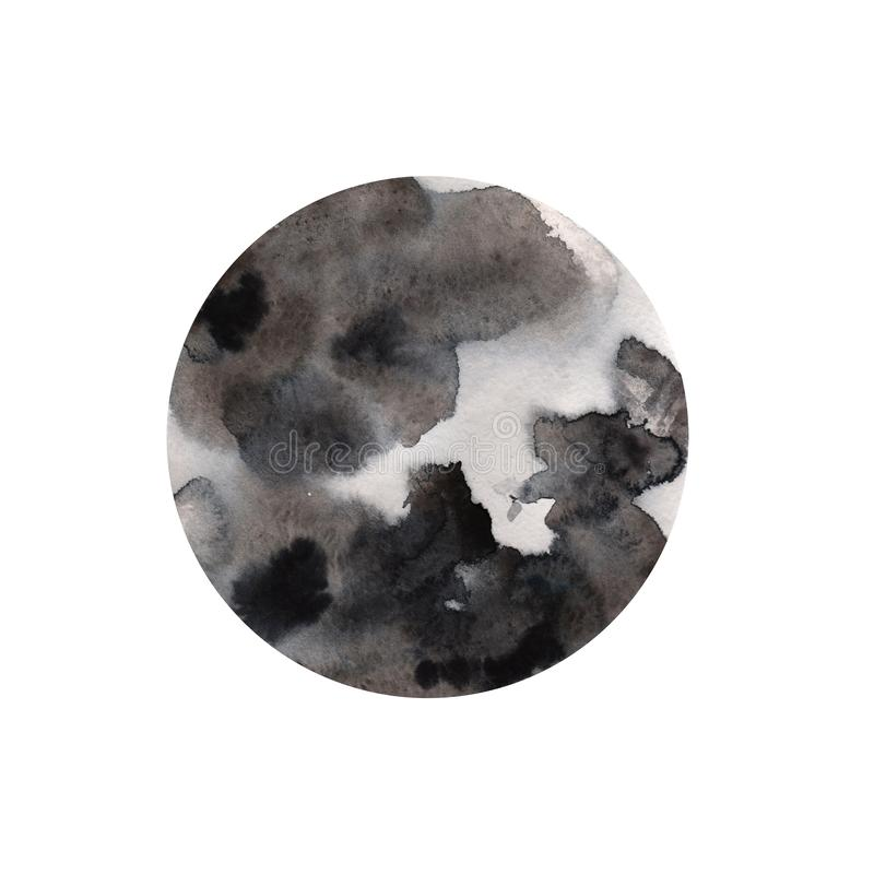 Abstract watercolor hand paint circle texture, isolated on white background. vector illustration