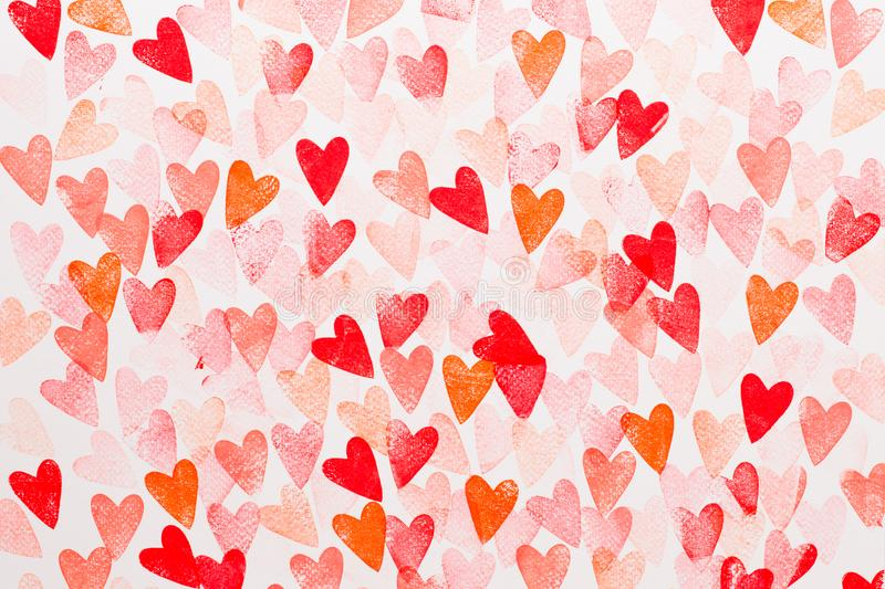 Abstract watercolor heart background. Concept love, valentine day greeting card stock photos