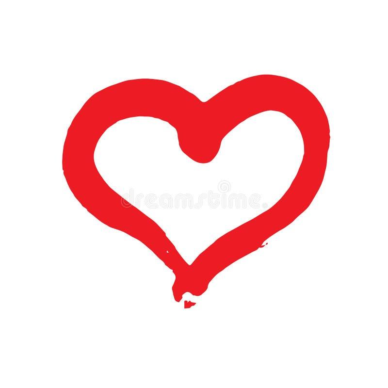 Vector heart logo royalty free illustration