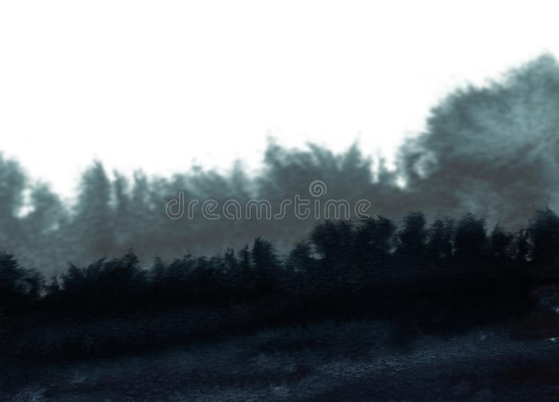 Abstract watercolor landscape blot painted background. Texture paper. Isolated stock image