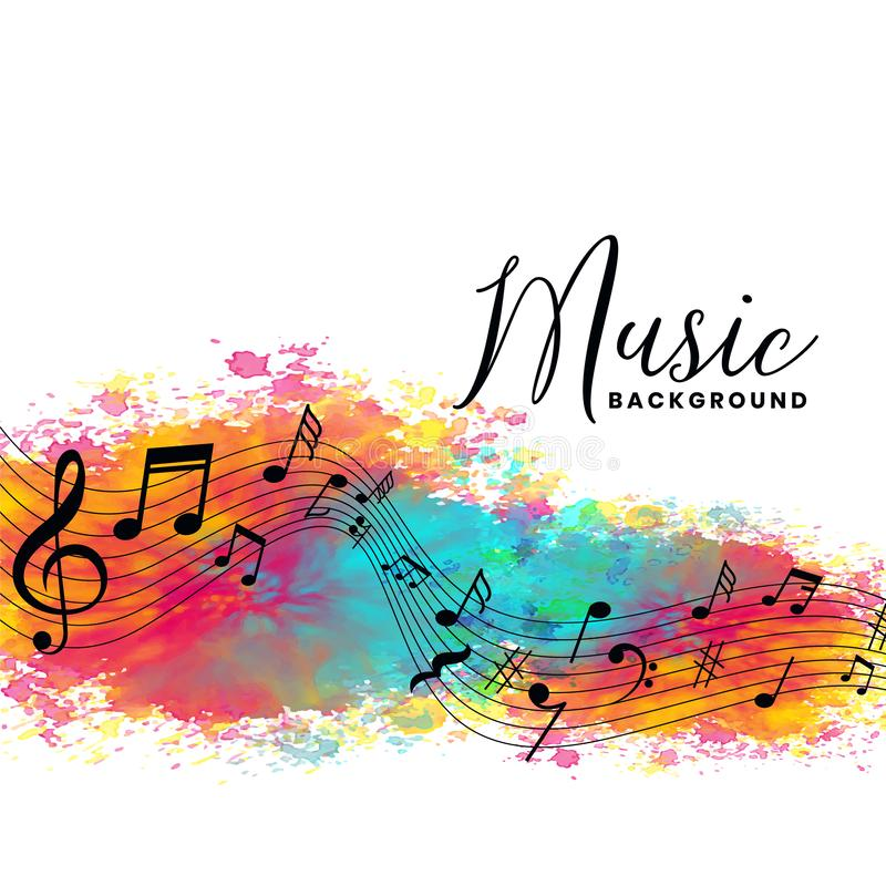 Free Abstract Watercolor Music Background With Notes Symbols Royalty Free Stock Photography - 157902727
