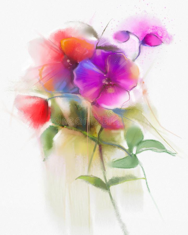 Free Abstract Watercolor Orchid Flowers Painting Stock Photo - 72951740