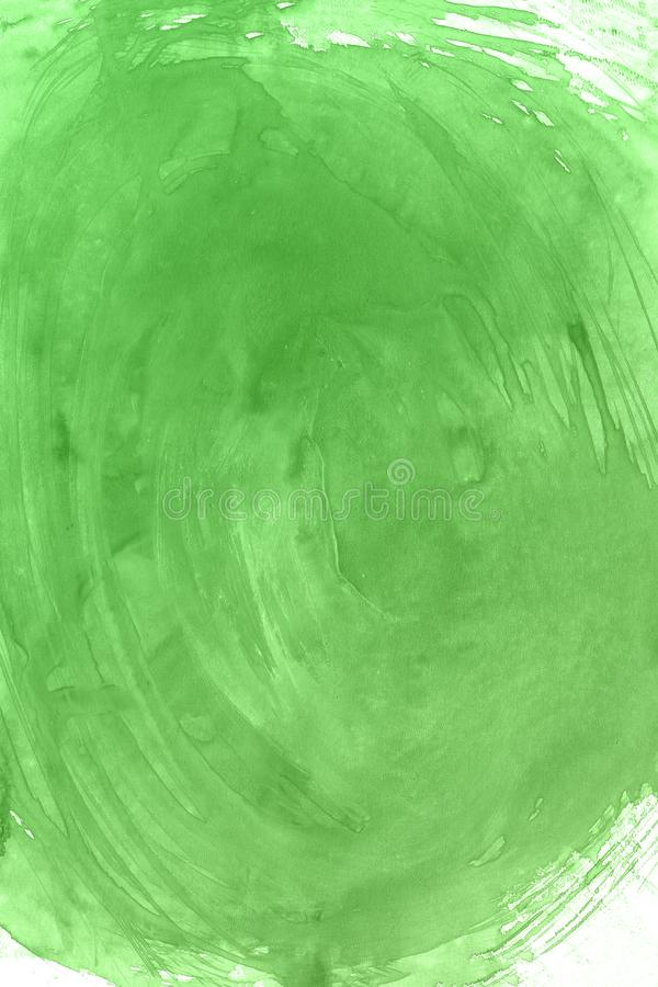 Green watercolor paint background, lettering scrapbook sketch. and pink stock illustration