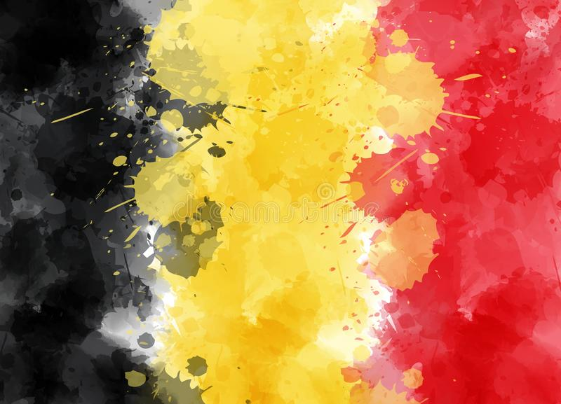 Abstract watercolor flag of Belgium vector illustration