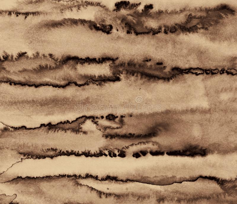 Abstract watercolor on paper texture can use as background. In S. Abstract watercolor on paper texture as background. In Sepia toned. Retro style royalty free stock images