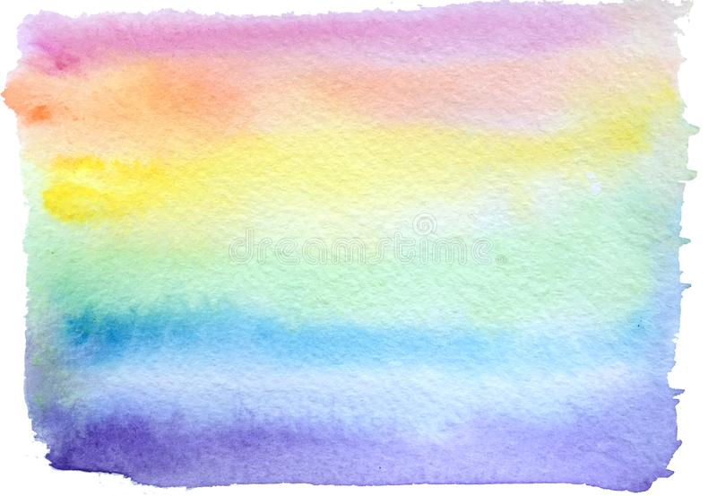 Abstract watercolor rainbow background. raster illustration for poster design royalty free illustration