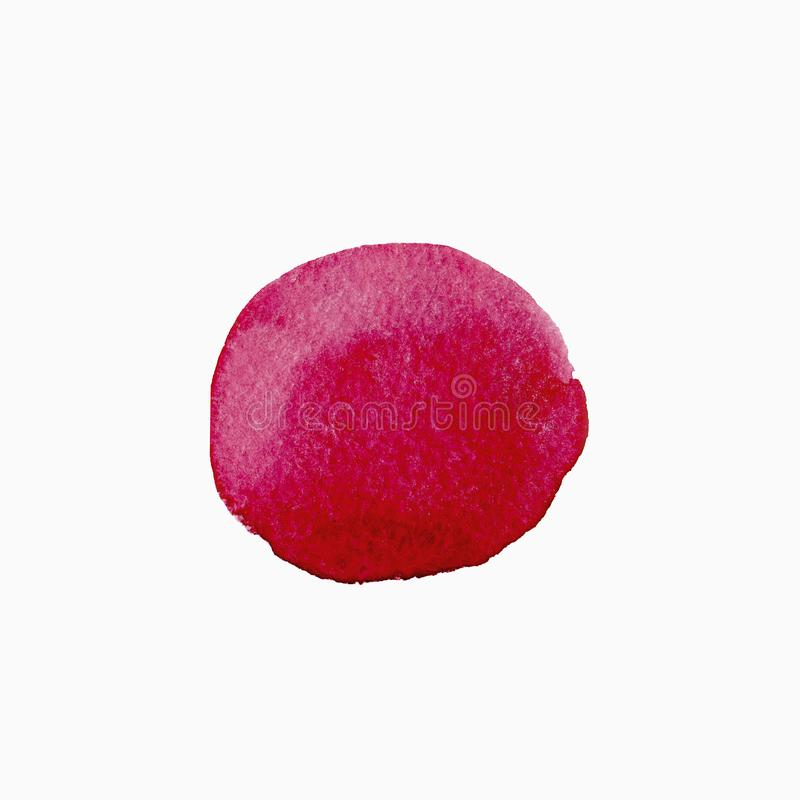 Abstract Watercolor red hand painted circle. Beautiful element for design. Color background. Abstract Watercolor red hand painted circle. Beautiful element for vector illustration